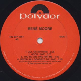 Rene Moore / Destination Love label