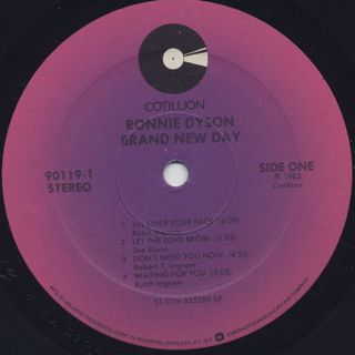 Ronnie Dyson / Brand New Day label