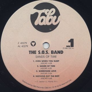 S.O.S. Band / Sands Of Time label