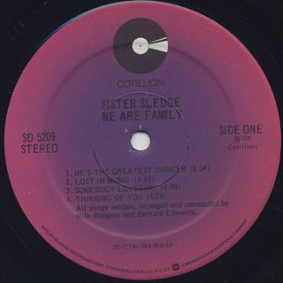 Sister Sledge / We Are Family label