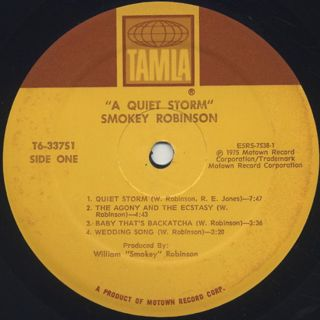 Smokey Robinson / A Quiet Storm label