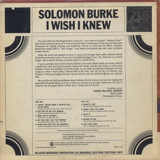 Solomon Burke / I Wish I Knew back