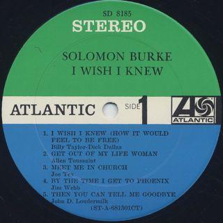 Solomon Burke / I Wish I Knew label