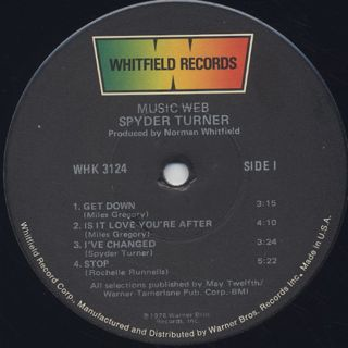 Spyder Turner / Music Web label