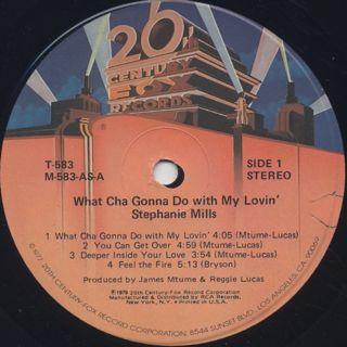 Stephanie Mills / What Cha Gonna Do With My Lovin' label