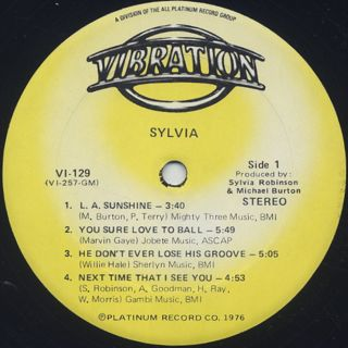 Sylvia / S.T. label