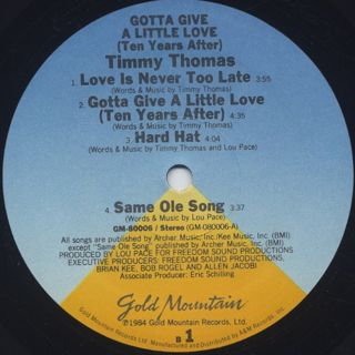 Timmy Thomas / Gotta Give A Little Love (Ten Years After) label