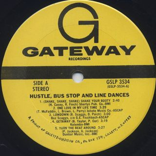 Unknown Artist / Hustle, Bus Stop And Line Dances label