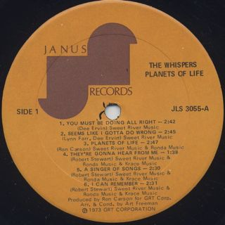 Whispers / Planets Of Life label