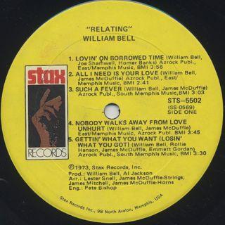 William Bell / Relating label