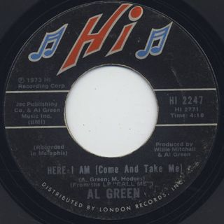 Al Green / I'm Glad You're Mine c/w Here I Am back