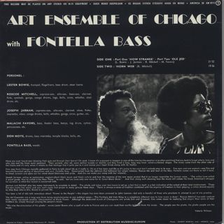 Art Ensemble Of Chicago With Fontella Bass / S.T. back