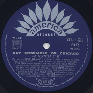 Art Ensemble Of Chicago With Fontella Bass / S.T. label