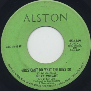 Betty Wright / Girls Can't Do What The Guys Do (VG+)