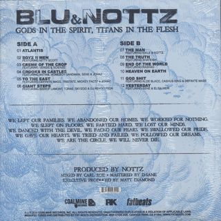 Blu and Nottz / Gods In The Spirit, Titans In The Flesh back