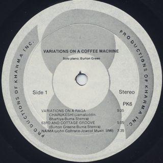 Burton Greene / Variations On A Coffee Machine label