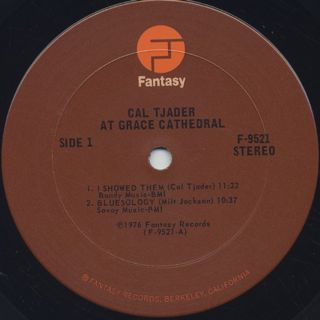 Cal Tjader / At Grace Cathedral label