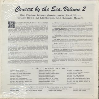 Cal Tjader Quintet and Sextet / Concert By The Sea Vol.2 back