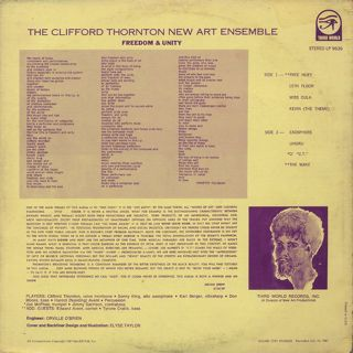 Clifford Thornton New Art Ensemble / Freedom & Unity back