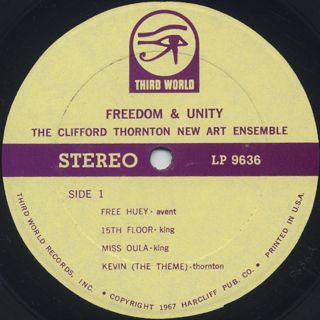 Clifford Thornton New Art Ensemble / Freedom & Unity label