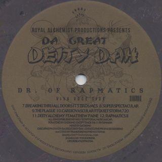 Da Great Deity Dah / Dr Of Rapmatics (LP) label