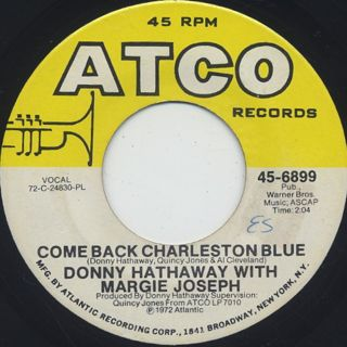 Donny Hathaway / Come Back Charleston Blue front