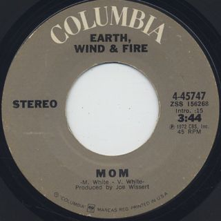 Earth, Wind & Fire / Mom c/w Power back