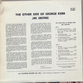 George Kerr / The Other Side Of George Kerr (Mr. Emotion) back