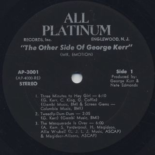 George Kerr / The Other Side Of George Kerr (Mr. Emotion) label