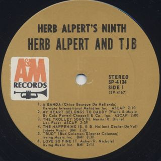 Herb Alpert And The Tijuana Brass / Herb Alpert's Ninth label