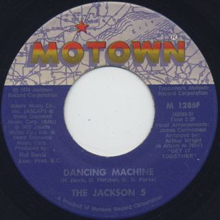 Jackson 5 / Dancing Machine c/w It's Too Late To Change The Time