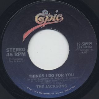 Jacksons / Heartbreak Hotel c/w Things I Do For You back