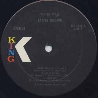 James Brown / Super Bad label