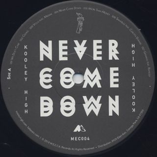Kooley High / Never Come Down label