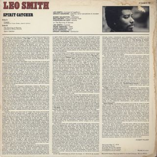 Leo Smith / Spirit Catcher back