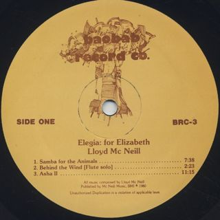 Lloyd McNeill / Elegia label