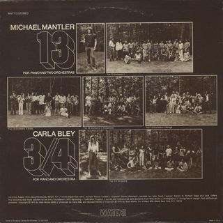 Michael Mantler / Carla Bley - 13 & 3/4 back