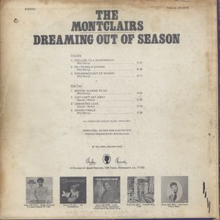 Montclairs / Dreaming Out Of Season back
