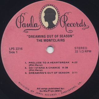 Montclairs / Dreaming Out Of Season label