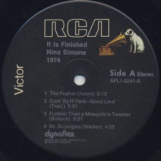 Nina Simone / It Is Finished label