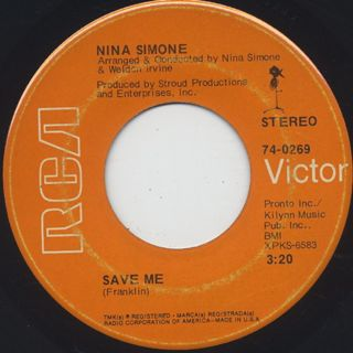 Nina Simone / Save Me c/w To Be Young, Gifted And Black