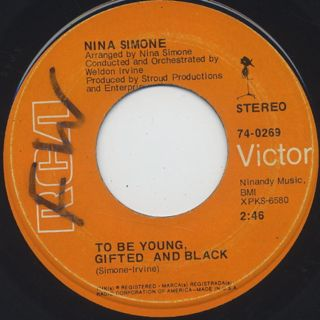 Nina Simone / Save Me c/w To Be Young, Gifted And Black back