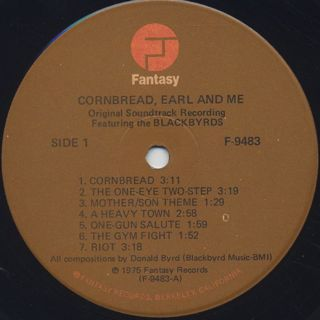 O.S.T.(The Blackbyrds) / Cornbread, Earl And Me label