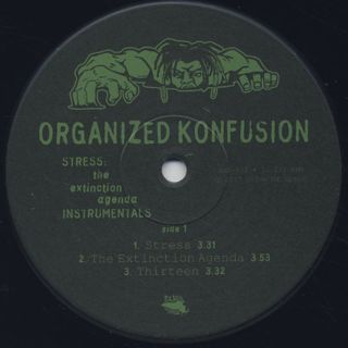 Organized Konfusion / Stress (The Extinction Agenda) Instrumentals label