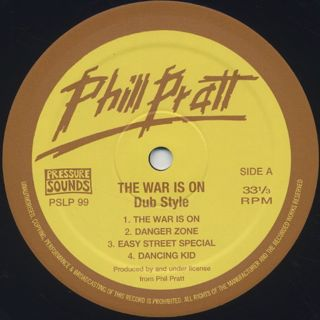 Phil Pratt & Friends / The War Is On Dub Style label