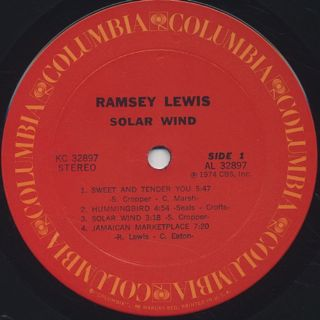 Ramsey Lewis / Solar Wind label