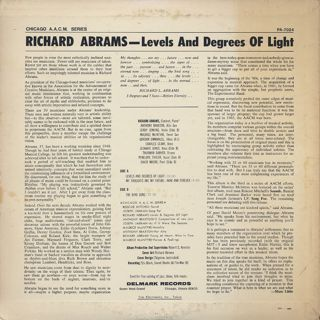 Richard Abrams / Levels And Degrees Of Light back