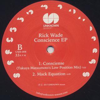 Rick Wade / Conscience EP back