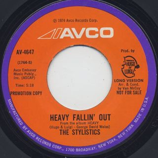 Stylistics / Heavy Fallin' Out(Long) c/w (Short)