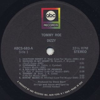Tommy Roe / Dizzy label